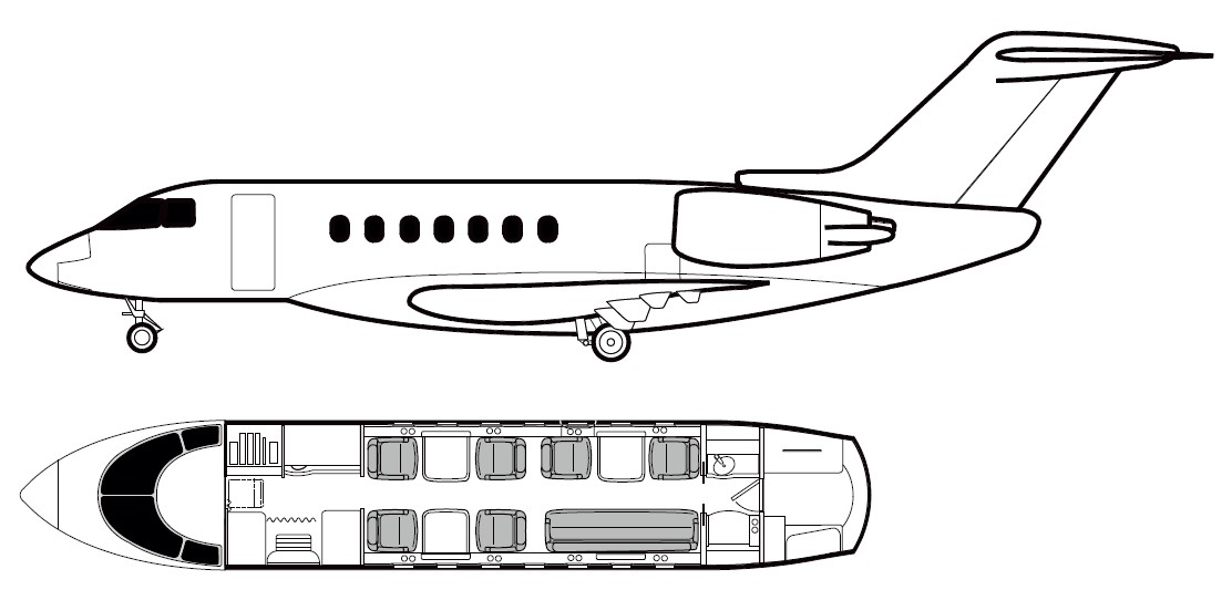 hawker-4000-cabin-layout